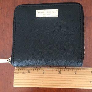Henri Bendel bifold zipper leather wallet